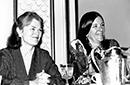 Carol Oles and Janet Burroway, former board members