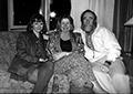 Tree Swenson, former president, Carolyn Kizer, former president, and Marvin Bell, former board member