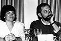 Peggy Shumaker, former president, and David Milofsky, former Intro editor