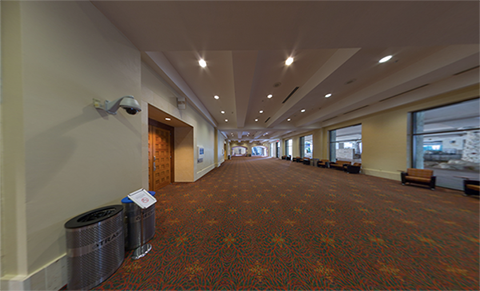 This photo is of the River level hallway.