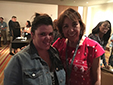 Melani Martinez and her mentor, Norma Cantú, at the Writer to Writer reception in Los Angeles, 2016.