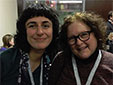 Mentor Janet Sylvester and mentee Olga Livshin, who were matched during Writer to Writer's pilot season, Fall 2014.