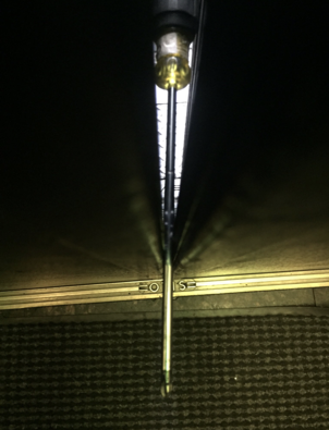 Artistic photo of the screwdriver